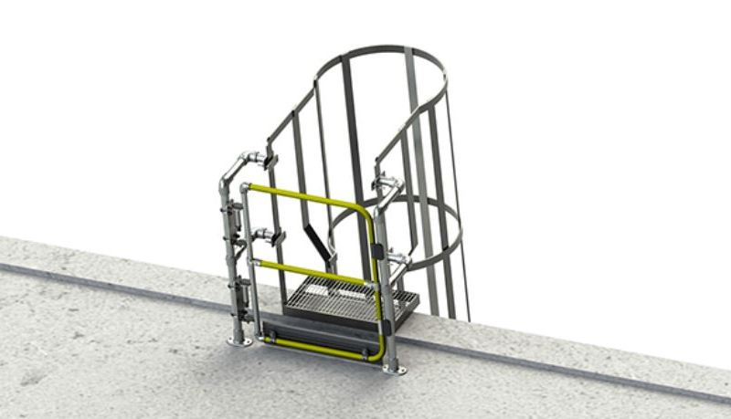 New Full Height Gates to Protect Access to Roofs from Ladders