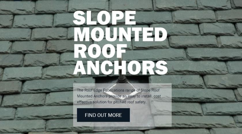 slope mounted roof anchors
