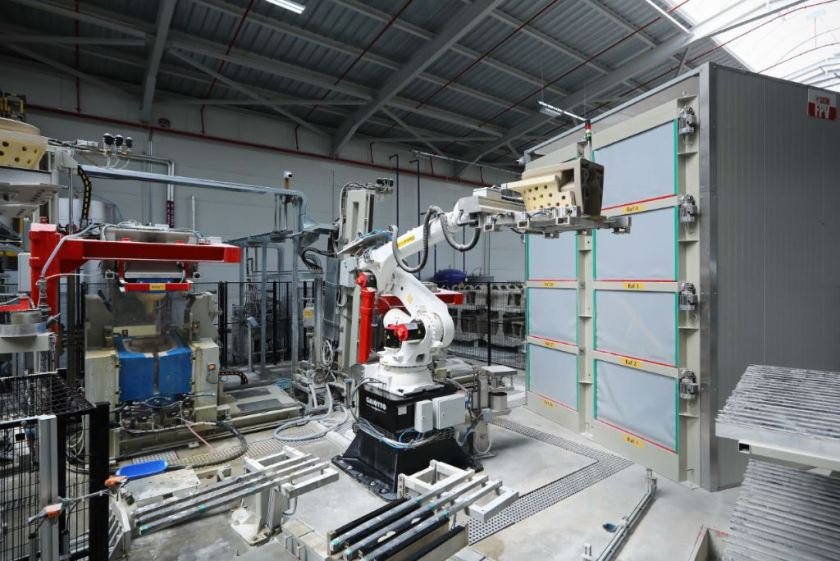 Automation at work at new production facility in Turkey for VitrA