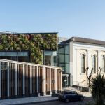 Living wall symphony of foliage at Nottingham Trent University Music Centre