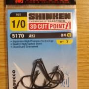Trabucco Shinken 5170 Aki Barbed Hooks 1/0
