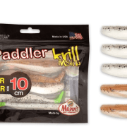 Manns / Quantum Q-Paddler 10cm Salt & Pepper UV Tail & Sand Goby Clear Water Mix