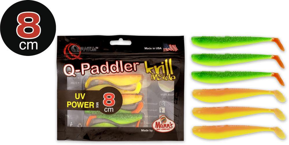 Manns Q Paddler 8cm UV Power hot shad + Sunset