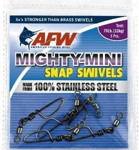 AFW Stainless Steel Snap Swivels. 120lb