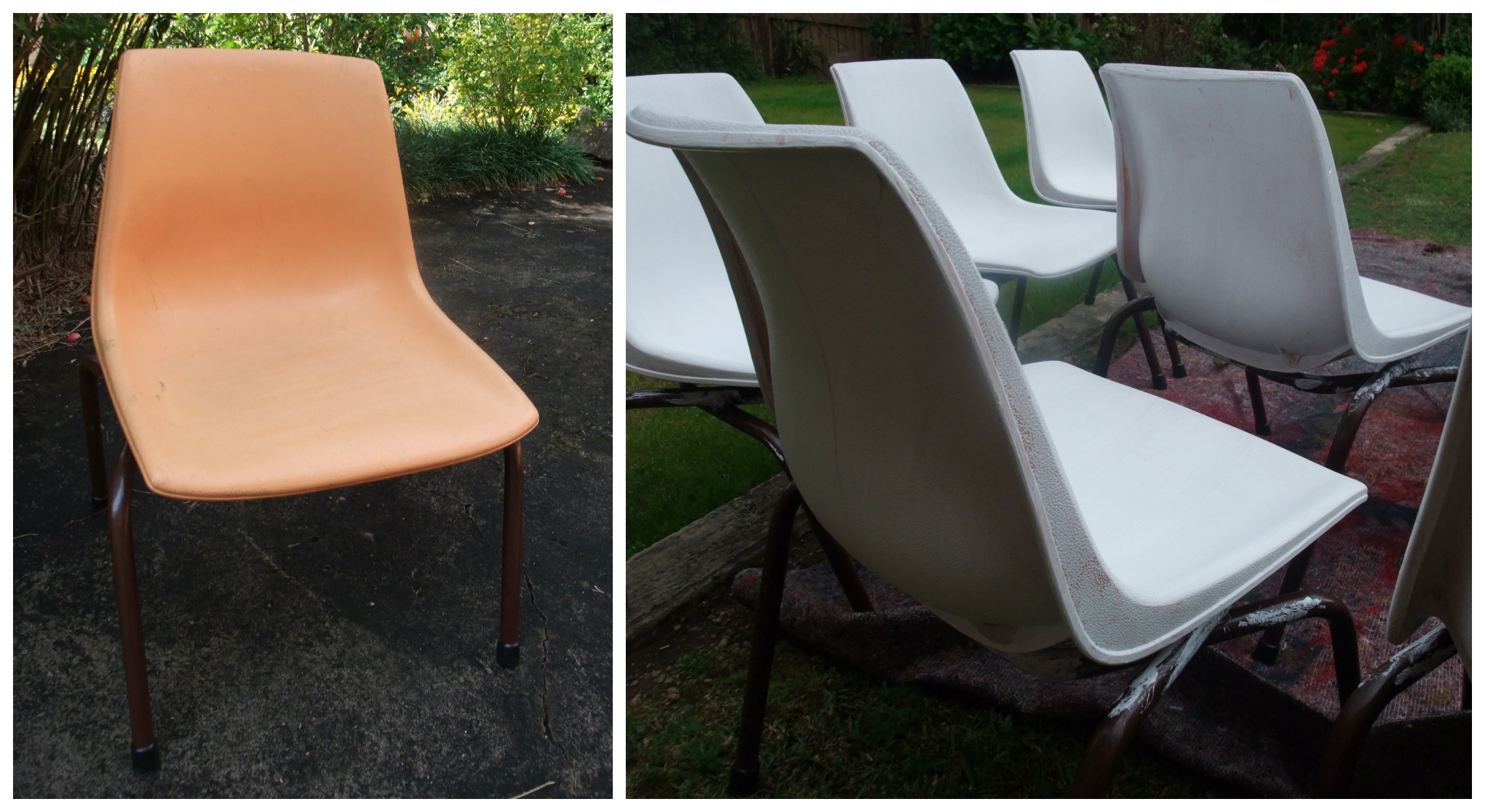 how to paint plastic chairs bath baby chair sebel stak a bye then add primer