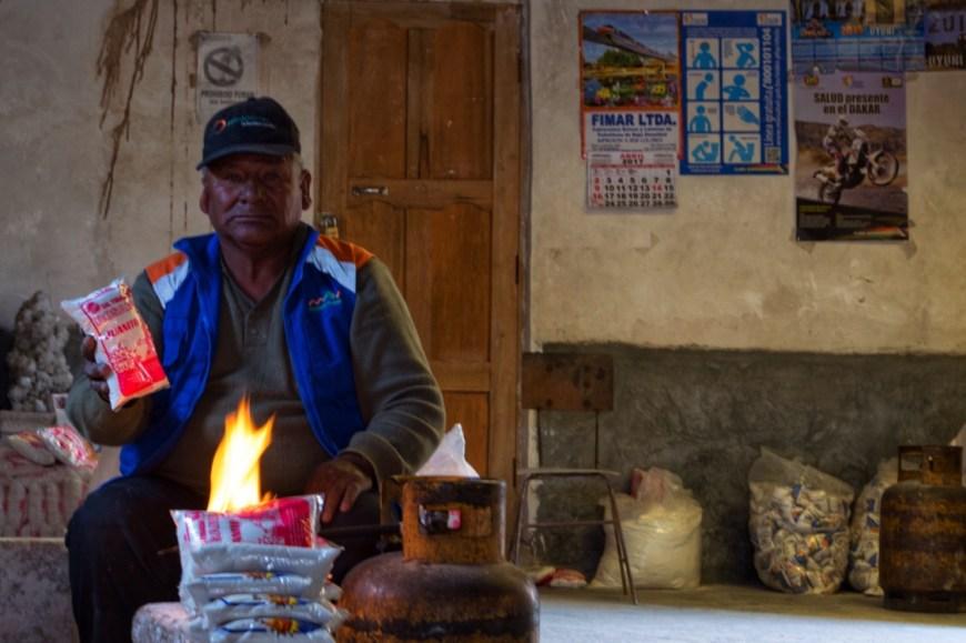 selling salt, Bolivia