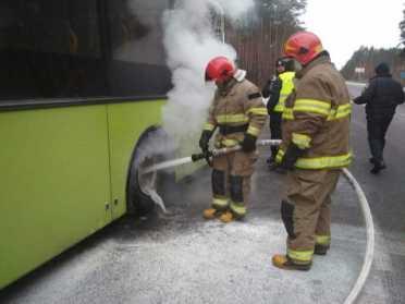 На Сарненщині рятували палаючий автобус