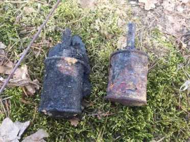 На Рівненщині піротехніки ДСНС знешкодили дві ручні гранати часів Другої світової