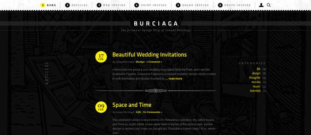 Ismael Burciaga - Awesome Blog Designs