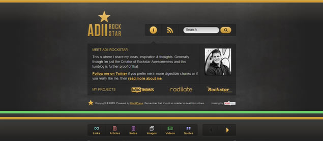 Adii Rockstar - Awesome Blog Designs