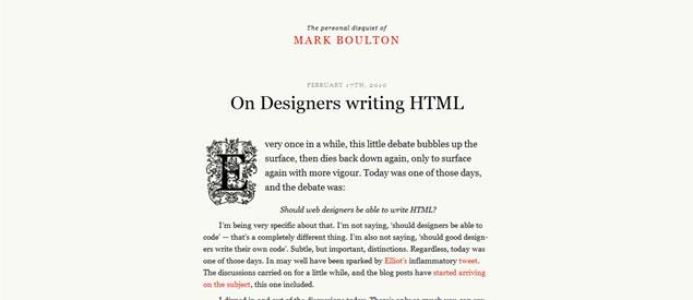 Mark Boulton - Awesome Blog Designs