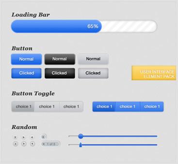 Web UI Element Pack (.psd)