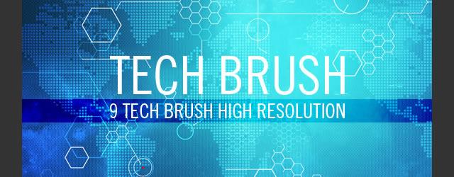 20 Free Technology Photoshop Brush Sets