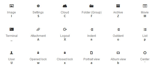 Web Symbols Typeface @fontface font
