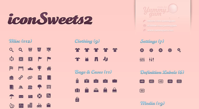 iconSweets 2 @fontface font