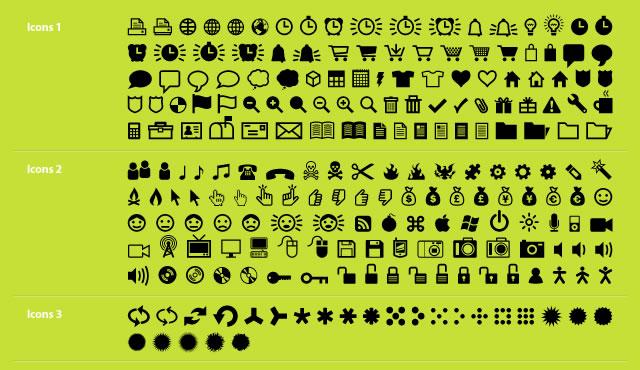 ClickBits Web Icon & Dingbat System @fontface font