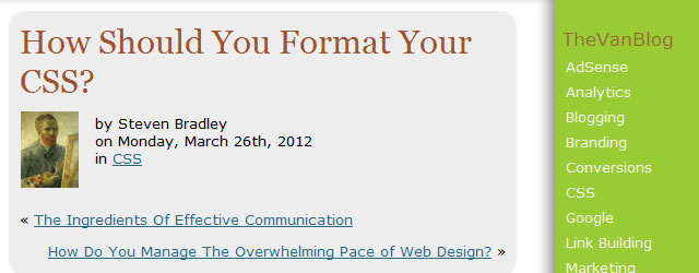 How Should You Format Your CSS?