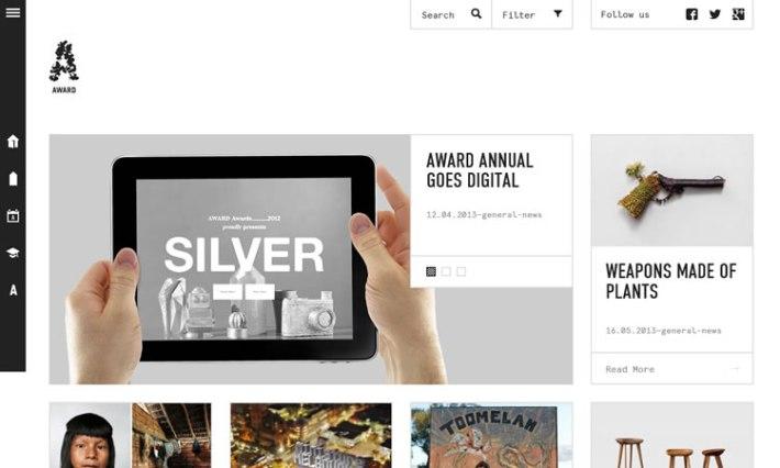 Award content heavy web design Inspiration