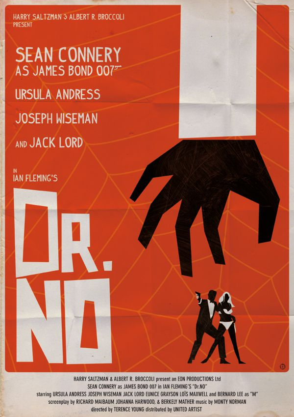 vintage style james bond posters by