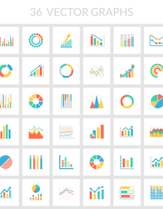Flat color vector chart graph illustrator svg photoshop psd also free  templates ai eps rh speckyboy