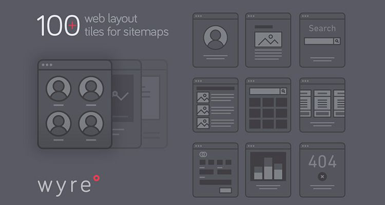 Wyre Web Layout Flowcharts AI EPS SVG illustrator ux flowchart userflow development free wireframe kit template UI design