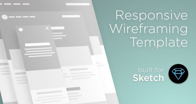 Responsive sketch web design development free wireframe kit template UI design