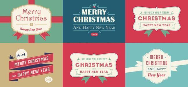 5 tarjetas de Navidad y Año Nuevo vacaciones gratis