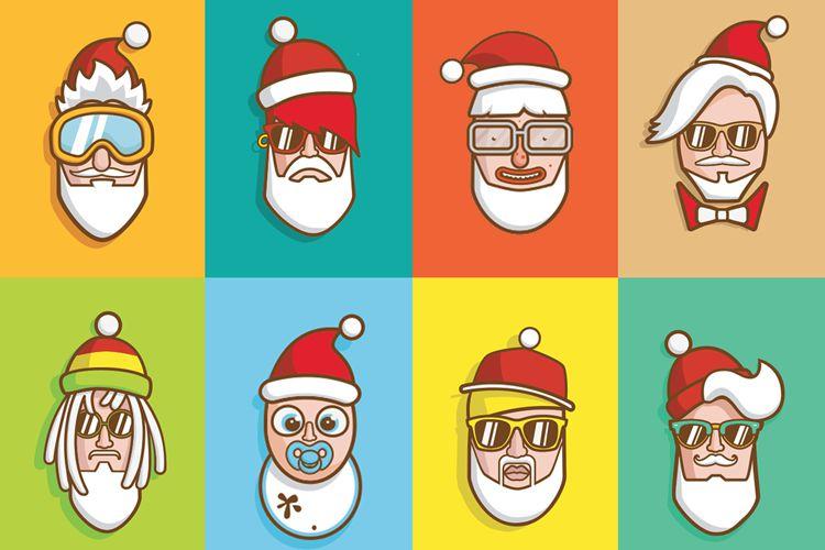 Papá Noel con Swagg Ilustraciones gratis