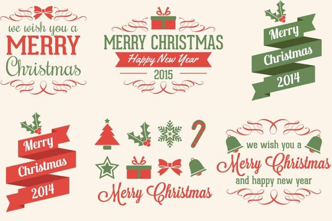Christmas Vector Elements vacaciones gratis