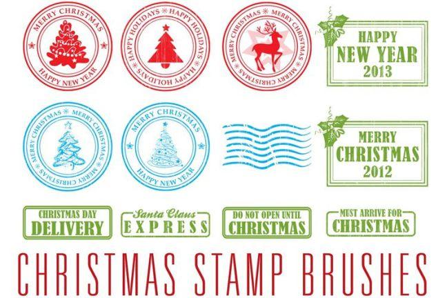 13 pinceles de navidad festivos gratis