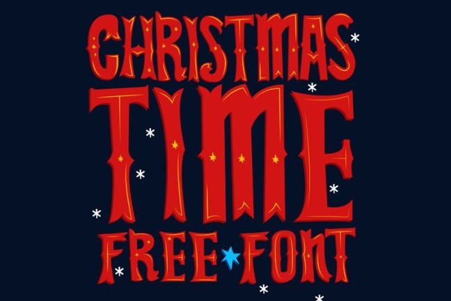 Christmas Time Free Font vacaciones gratis