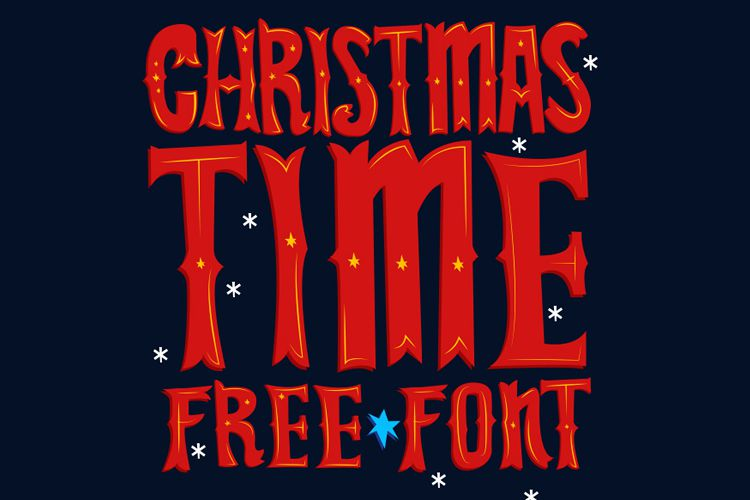 Christmas Time Free Font vacaciones gratis