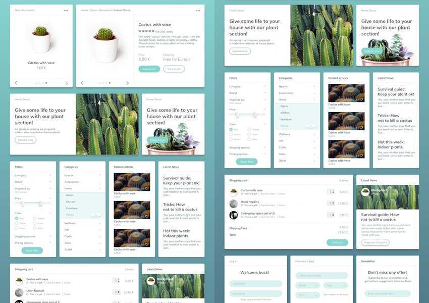 Cactaceae Free Web UI Kit