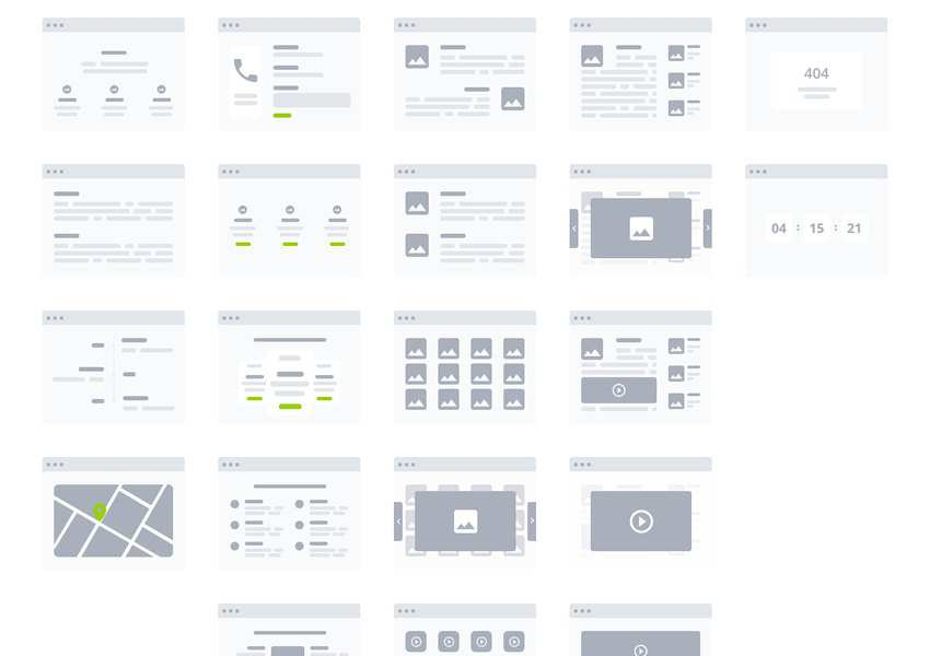 Adobe XD Desktop Wireflow Templates