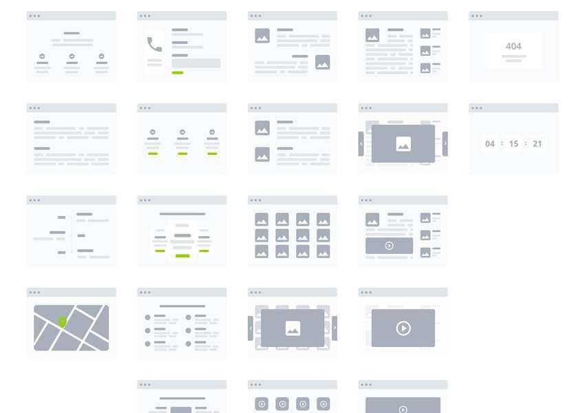 Adobe XD Desktop Wireflow Templates