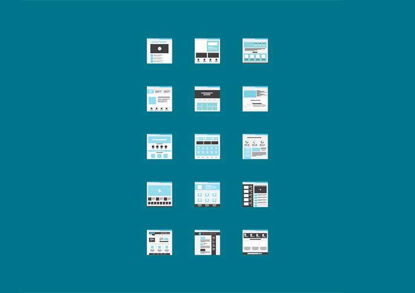 Tiny Miniature Wireframes for Adobe XD