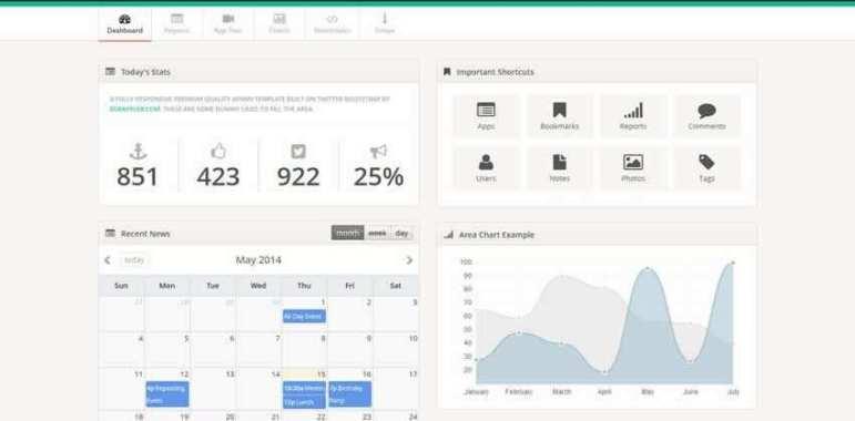TemplateVamp Gratis Kit Bootstrap Admin Template UI Gratis