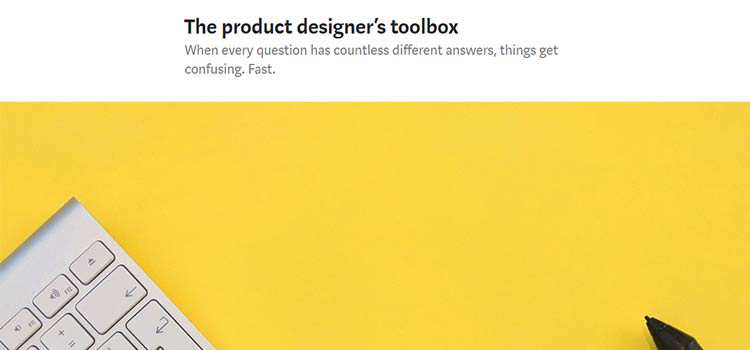 The product designer's toolbox