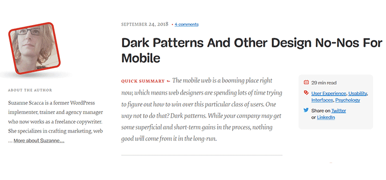 Dark Patterns And Other Design No-Nos For Mobile