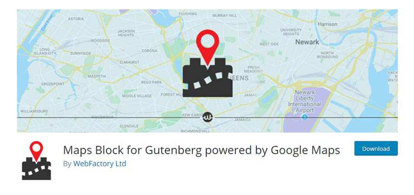 Maps Block for Gutenberg powered by Google Maps
