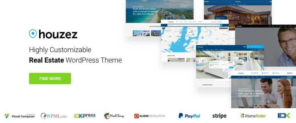 Houzez - Highly Customizable Real Estate WordPress Theme