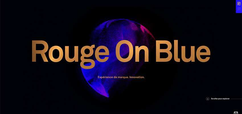 Rouge on Blue