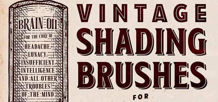 30 Free Vintage Shading Brushes for Adobe Illustrator