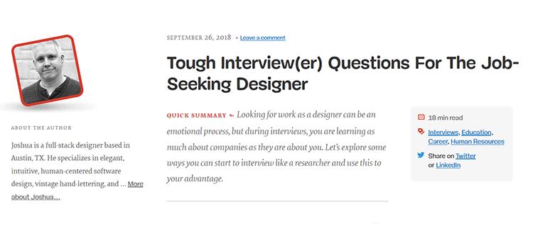 Tough Interview(er) Questions For The Job-Seeking Designer