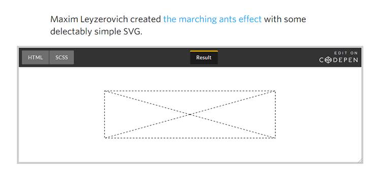 SVG Marching Ants