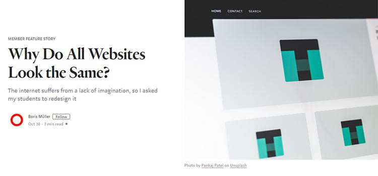 Why Do All Websites Look the Same?