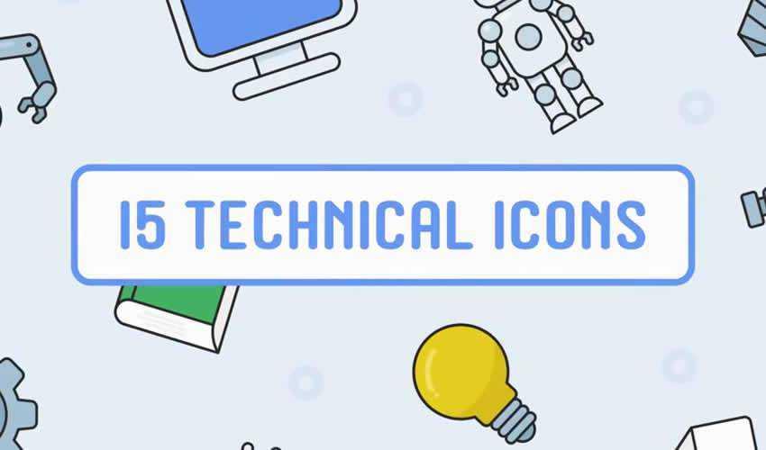 6 free animated icon