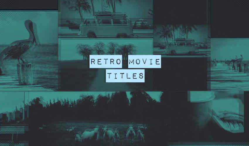 retro ae adobe after effects template motion design project files video movie titles typography type