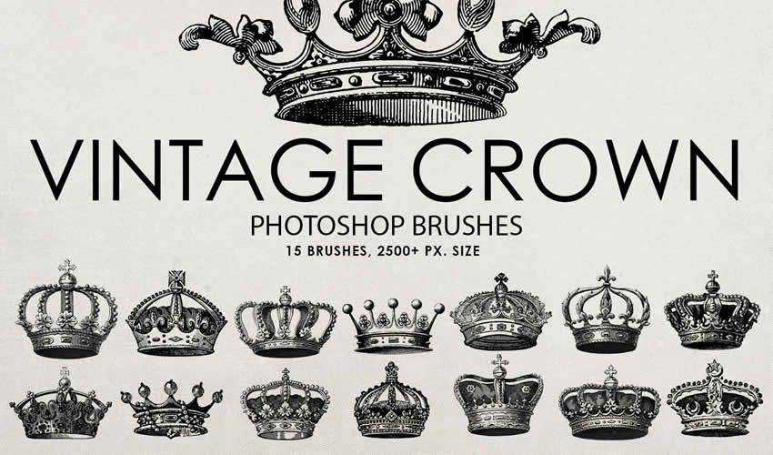 15 Free Vintage & Antique Brush Packs for Adobe Photoshop