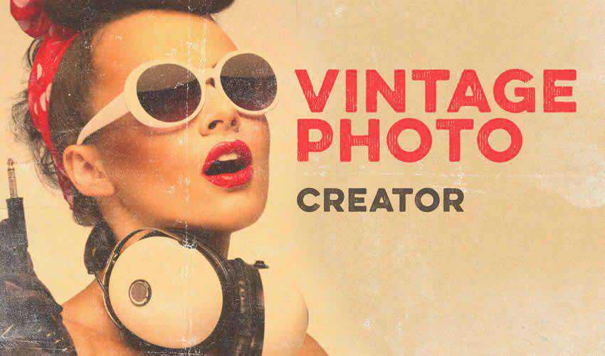 Photo Creator vintage antique adobe photoshop pack set